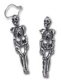 Skeleton Pair of Gothic Earrings Gothic Plus Gothic Clothing, Jewelry, Goth Shoes & Boots & Home Decor