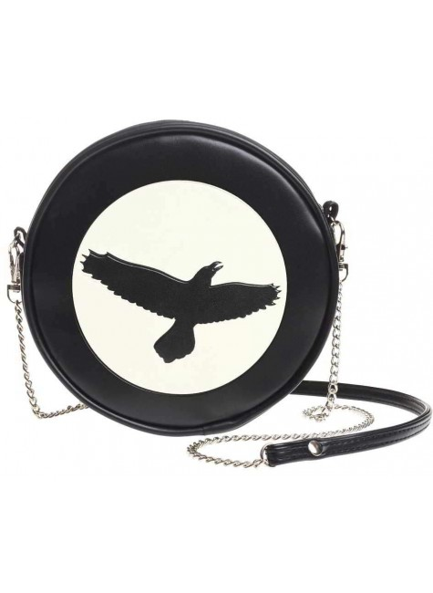 Raven Moon Round Shoulder Bag at Gothic Plus, Gothic Clothing, Jewelry, Goth Shoes & Boots & Home Decor