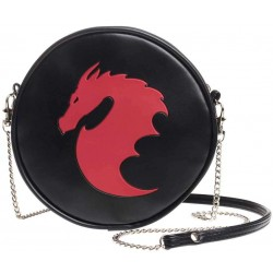 Dragon Round Shoulder Bag Gothic Plus Gothic Clothing, Jewelry, Goth Shoes & Boots & Home Decor