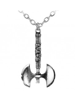 Double Axe Pewter Necklace Gothic Plus Gothic Clothing, Jewelry, Goth Shoes & Boots & Home Decor