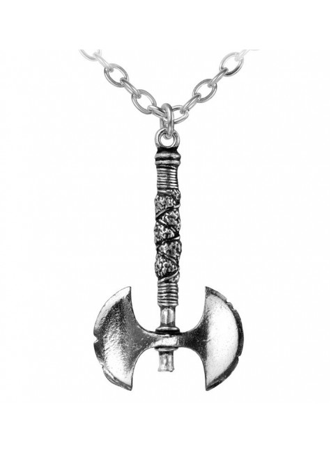 Double Axe Pewter Necklace at Gothic Plus, Gothic Clothing, Jewelry, Goth Shoes & Boots & Home Decor