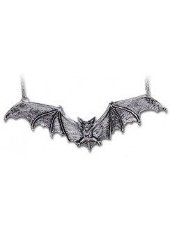Gothic Bat Pewter Necklace Gothic Plus Gothic Clothing, Jewelry, Goth Shoes & Boots & Home Decor