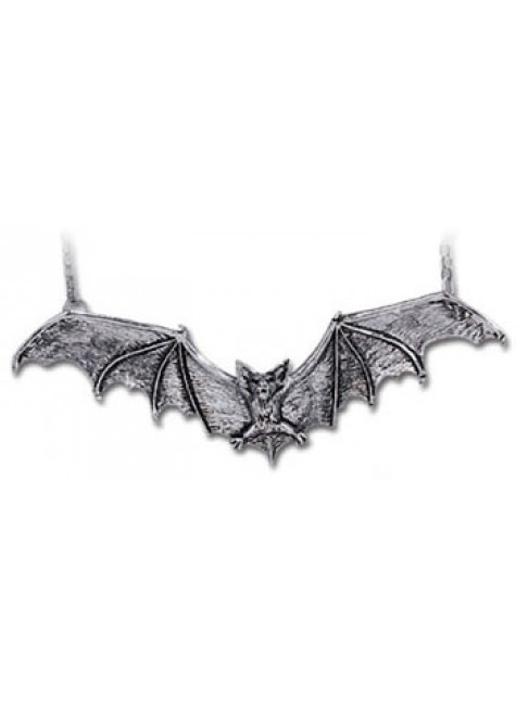 Gothic Bat Pewter Necklace at Gothic Plus, Gothic Clothing, Jewelry, Goth Shoes & Boots & Home Decor