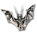 Vampyr Bat Pewter Necklace