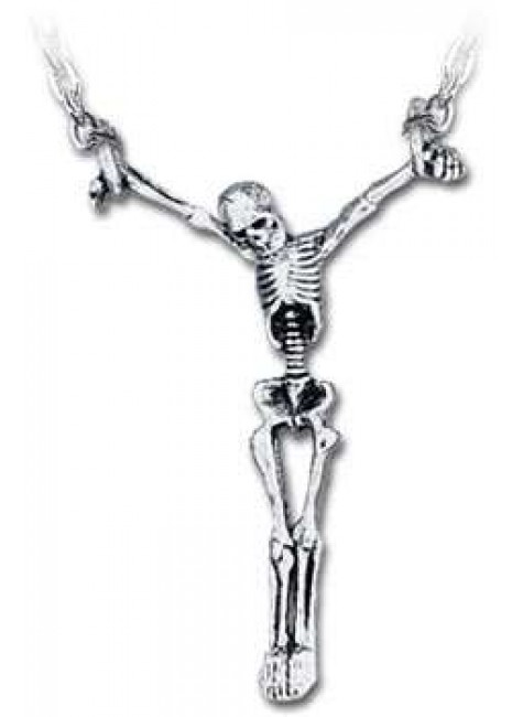 Lost Soul Skeleton Pewter Necklace at Gothic Plus, Gothic Clothing, Jewelry, Goth Shoes & Boots & Home Decor