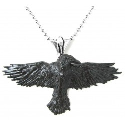 Black Raven Pewter Necklace Gothic Plus  Gothic Clothing, Jewelry, Goth Shoes, Boots & Home Decor