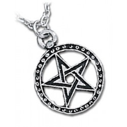 Dantes Hex Pewter Necklace Gothic Plus Gothic Clothing, Jewelry, Goth Shoes & Boots & Home Decor