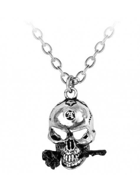 Alchemist Skull Pewter Dreadpunk Necklace at Gothic Plus, Gothic Clothing, Jewelry, Goth Shoes & Boots & Home Decor