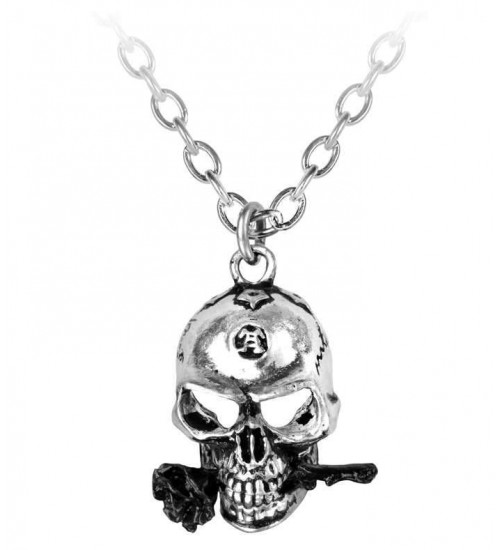 Alchemist Skull Pewter Dreadpunk Necklace at Gothic Plus,  Gothic Clothing, Jewelry, Goth Shoes, Boots & Home Decor