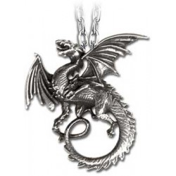 The Whitby Wyrm Pewter Dragon Necklace Gothic Plus Gothic Clothing, Jewelry, Goth Shoes & Boots & Home Decor