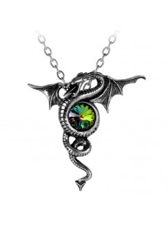 Anguis Aeternus Dragon Pewter Necklace Gothic Plus Gothic Clothing, Jewelry, Goth Shoes & Boots & Home Decor