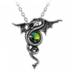 Anguis Aeternus Dragon Pewter Necklace Gothic Plus  Gothic Clothing, Jewelry, Goth Shoes, Boots & Home Decor