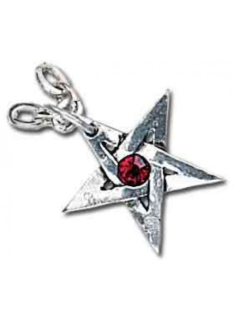 Crystal Pentagram Pewter Necklace at Gothic Plus, Gothic Clothing, Jewelry, Goth Shoes & Boots & Home Decor