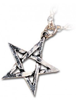 Pentagram Pewter Necklace Gothic Plus Gothic Clothing, Jewelry, Goth Shoes & Boots & Home Decor