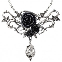 Bacchanal Black Rose Victorian Necklace Gothic Plus  Gothic Clothing, Jewelry, Goth Shoes, Boots & Home Decor