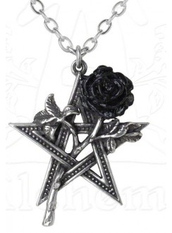 Ruah Vered Pentacle Rose Gothic Necklace Gothic Plus Gothic Clothing, Jewelry, Goth Shoes & Boots & Home Decor