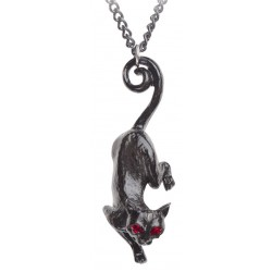 Cat Sith Black Pewter Necklace Gothic Plus Gothic Clothing, Jewelry, Goth Shoes & Boots & Home Decor