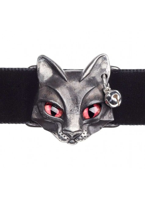Bastet Egyptian Goddess Pewter Choker at Gothic Plus, Gothic Clothing, Jewelry, Goth Shoes & Boots & Home Decor