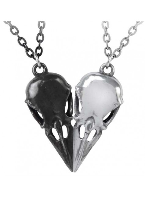 Coeur Crane Bird Skull Necklace Set
