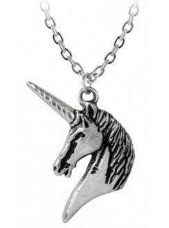 Unicorn Pewter Pendant with Chain Gothic Plus Gothic Clothing, Jewelry, Goth Shoes & Boots & Home Decor