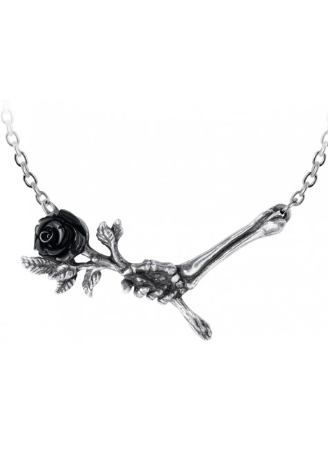 Love Never Dies Black Rose Necklace at Gothic Plus, Gothic Clothing, Jewelry, Goth Shoes & Boots & Home Decor