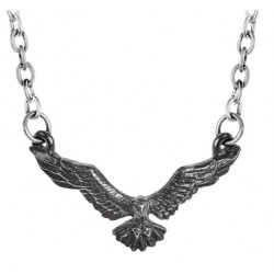 Ravenette Black Raven Necklace Gothic Plus Gothic Clothing, Jewelry, Goth Shoes & Boots & Home Decor