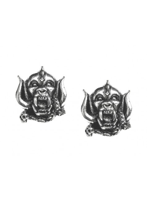 Motorhead War-Pig Pewter Earrings at Gothic Plus, Gothic Clothing, Jewelry, Goth Shoes & Boots & Home Decor