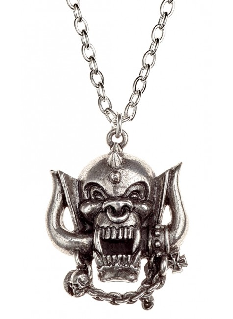 Motorhead War-Pig Pewter Necklace at Gothic Plus, Gothic Clothing, Jewelry, Goth Shoes & Boots & Home Decor