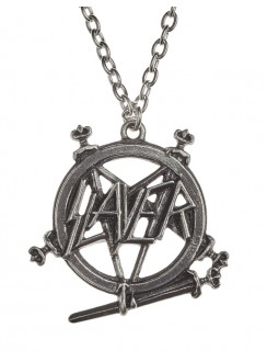 Slayer Pentagram Logo Necklace Gothic Plus Gothic Clothing, Jewelry, Goth Shoes & Boots & Home Decor