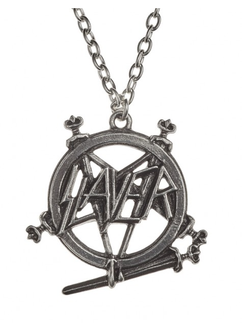 Slayer Pentagram Logo Necklace at Gothic Plus, Gothic Clothing, Jewelry, Goth Shoes & Boots & Home Decor
