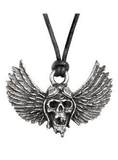 Airbourne Wings Pewter Band Necklace Gothic Plus Gothic Clothing, Jewelry, Goth Shoes & Boots & Home Decor
