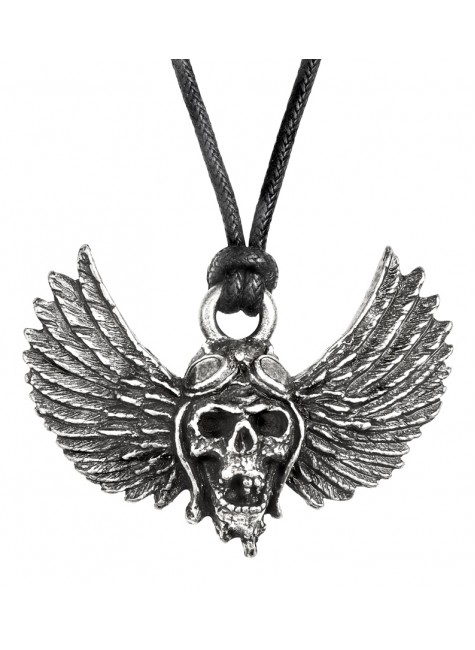 Airbourne Wings Pewter Band Necklace at Gothic Plus, Gothic Clothing, Jewelry, Goth Shoes & Boots & Home Decor