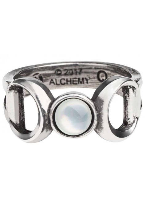 Triple Goddess Pewter Ring at Gothic Plus, Gothic Clothing, Jewelry, Goth Shoes & Boots & Home Decor