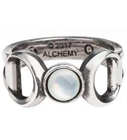 Triple Goddess Pewter Ring at Gothic Plus,  Gothic Clothing, Jewelry, Goth Shoes, Boots & Home Decor