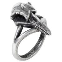 Rabeschadel Kleiner Raven Skull Gothic Pewter Ring