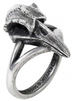 Rabeschadel Kleiner Raven Skull Gothic Pewter Ring Gothic Plus Gothic Clothing, Jewelry, Goth Shoes & Boots & Home Decor
