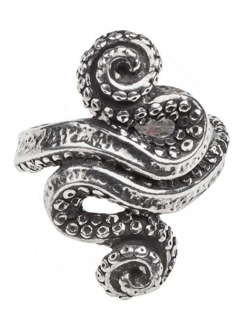 Kraken Octopus Pewter Ring at Gothic Plus, Gothic Clothing, Jewelry, Goth Shoes & Boots & Home Decor