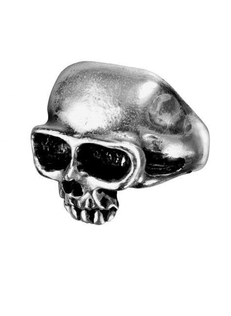 Death Skull Pewter Mens Dreadpunk Ring