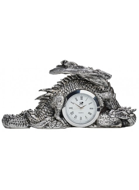 Dragonlore Desk Clock at Gothic Plus, Gothic Clothing, Jewelry, Goth Shoes & Boots & Home Decor