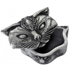 Sacred Cat Trinket Box Gothic Plus Gothic Clothing, Jewelry, Goth Shoes & Boots & Home Decor