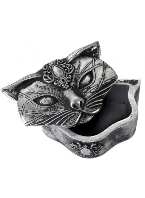 Sacred Cat Trinket Box at Gothic Plus, Gothic Clothing, Jewelry, Goth Shoes & Boots & Home Decor