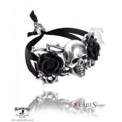 Skull and Briar Rose Pewter Dreadpunk Bracelet Gothic Plus  Gothic Clothing, Jewelry, Goth Shoes, Boots & Home Decor