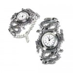 Imperial Dragon Pewter Wrist Watch