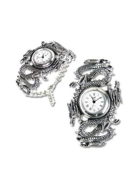 Imperial Dragon Pewter Gothic Wrist Watch at Gothic Plus,  Gothic Clothing, Jewelry, Goth Shoes, Boots & Home Decor