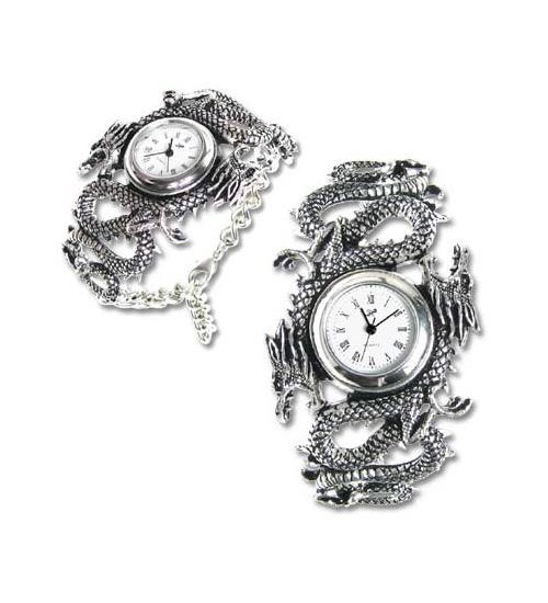 Imperial Dragon Pewter Wrist Watch at Gothic Plus,  Gothic Clothing, Jewelry, Goth Shoes, Boots & Home Decor