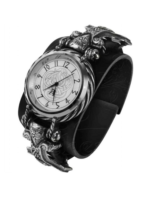 Thorgud Ulvhammer Thors Hammer Viking Gothic Wrist Watch at Gothic Plus, Gothic Clothing, Jewelry, Goth Shoes & Boots & Home Decor
