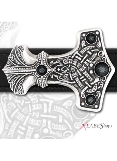 Thunder Hammer Pewter Thor Belt Buckle at Gothic Plus, Gothic Clothing, Jewelry, Goth Shoes & Boots & Home Decor