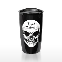 Dead Thirsty Skull Double Walled Travel Mug