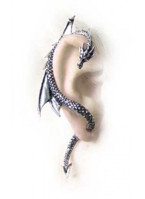Dragons Lure Earring Wrap - Right Ear at Gothic Plus, Gothic Clothing, Jewelry, Goth Shoes & Boots & Home Decor