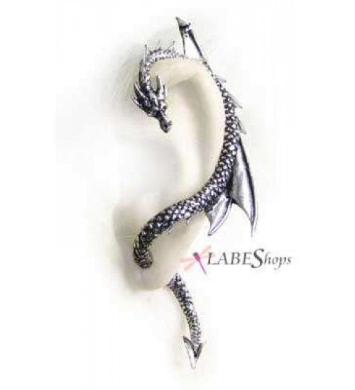 Dragons Lure Earring Wrap - Left Ear at Gothic Plus,  Gothic Clothing, Jewelry, Goth Shoes, Boots & Home Decor